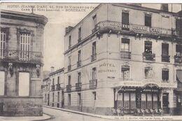 33 BORDEAUX Rue Saint Vincent  De Paul ,Hôtel Jeanne D'Arc ,façade Avec Terrasse - Bordeaux