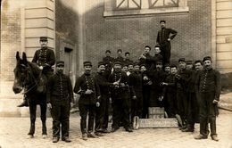 France, 1909, Vive La Reserve 1901-02, Âne, Deux Hommes Avec Bouteille, Real Photo - Personnages