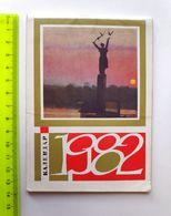 USSR Mini Calendar 1982 Ukraine - Small : 1981-90