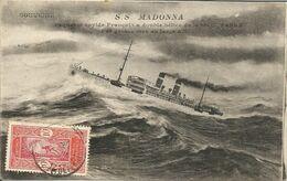 000804 - SOUVENIR - S.S. MADONNA - PAQUEBOT RAPIDE FRANCAIS A DOUBLE HELICE - 1918 - Piroscafi
