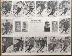 1964. UNITED STATES OLYMPIC ALPINE TEAM  ORIGINAL AUTOGRAPHED  Chuck Ferries Billy Kidd Ni Orsi Buddy Werner Jimmy Heuga - Autografi