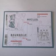 FRANCE Bloc Feuillet Carnet BOURDELLE MAILLOL SCULPTEURS 2011 ! NEUF ! Collection Timbre Poste - Blocs & Feuillets