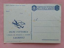 REGNO - Cartolina Postale Per Le Forze Armate - Nuova + Spese Postali - 1900-44 Vittorio Emanuele III