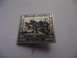 Romania - Barlad - Statea Independence Exhibition 1987 - Army Military Battlefield - Badge Abzeichen - See Verso - Militari