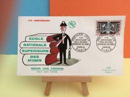 École National Supérieure Des Mines - Paris - 11.4.1959 FDC 1er Jour - Coté 2,50€ Y&T - FDC