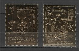 QQ454 1970 OSAKA DU TCHAD GOLD OVERPRINT OLYMPIC GAMES SAPPORO 72 2STAMPS MNH - Inverno1972: Sapporo
