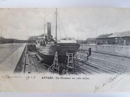 Carte Postale De Anvers, Antwerpen, Belgique , Un Steamer En Cale Sèche - Antwerpen