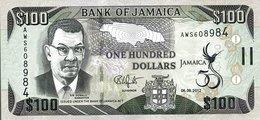 Jamaica (BOJ) 100 Dollars 2012 UNC Cat No. P-90a / JM245a - Giamaica