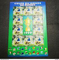 FRANCE Bloc Feuillet Carnet COUPE DU MONDE DE RUGBY 1999 ! NEUF ! Collection Timbre Poste - Blocs & Feuillets