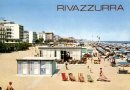 E 1528 - Italie    Rivazzurra Di Rimini    Hotels Et Plage - Rimini
