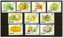 Rwanda Ruanda 1981 OBCn° 1028-37 *** MNH  Cote 11 Euro Flore - Rwanda