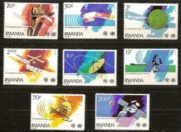 Rwanda Ruanda 1981 OBCn° 1062-1069 *** MNH  Cote 9 Euro Télécommunications - Rwanda