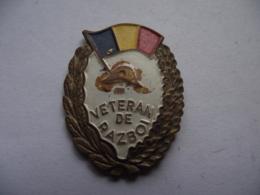 Romania - Army - Emblem - War Veteran WW2 WK2 Badge Abzeichen - See Verso - Armée De Terre