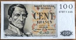 100 Francs Eeuwfeest UNC!! 23/10/52!! Moeilijkste Datum!! 0155 - 100 Franchi