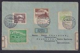 Flugpost Tschechoslowakei Zensur Zoll Brief Liberec Reichenberg Nach Buchholz   - Tschechoslowakei/CSSR
