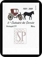Portugal 2020 Selo Personalizado 5.º Centenário Dos Correios 5th Post Office Centenary 5e Centenaire De La Poste Chariot - Correo Postal