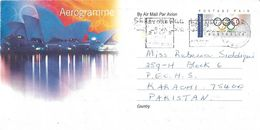 AUSTRALIA  AIRMAIL AEROGRAMME / AEROGRAM TO PAKISTAN. - Luftpost