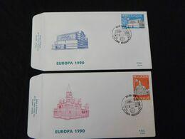 """BELG.1990 2367 & 2368 FDC's (Hekelgem) : """" Europa 1990 """" - 1981-90"""