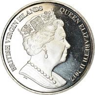 Monnaie, BRITISH VIRGIN ISLANDS, Dollar, 2017, Franklin Mint, Hippocampes, SPL - Iles Vièrges Britanniques