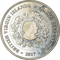 Monnaie, BRITISH VIRGIN ISLANDS, Dollar, 2017, Franklin Mint, Reine Elizabeth - - Iles Vièrges Britanniques