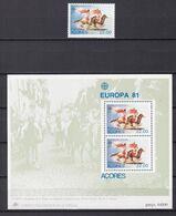 Europa-CEPT - Portugal - Azoren - 1981 - Michel Nr. 342 + Block 2 - Postfrisch - Europa-CEPT