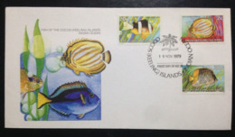 Cocos (Keeling) Islands, Uncirculated FDC, « FISHES », 1979 - Cocos (Keeling) Islands