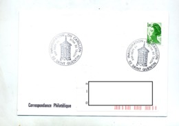Lettre Cachet  Saint Quentin Inauguration Carillon - Gedenkstempel