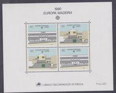 Europa 1990 : Etablissements Postaux : Madère BF N° 11 XX, Le Bloc Sans Charnière, TB - Europa-CEPT