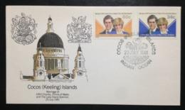 Cocos (Keeling) Islands, Uncirculated FDC, « ROYAL WEDDING », « DIANA SPENCER », 1981 - Cocos (Keeling) Islands