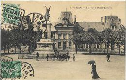 CPA- Edit. Phototypie E. Isabel, Sedan - 3 - SEDAN - La Place D'Alsace-Lorraine - Sedan
