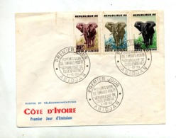 Lettre Fdc 1953 Elephant - Côte D'Ivoire (1960-...)