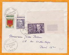1951 -  Enveloppe De Paris En Ville - Charles Baudelaire, Poète - 1er Jour D'oblitération - Poststempel (Briefe)