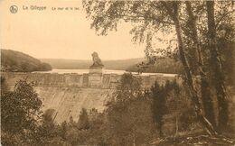 Belgique - Belgium - Liège - Gileppe - Barrages - Barrage - La Gileppe - Le Mur Et Le Lac - état - Gileppe (Barrage)