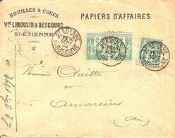 Saint Etienne Badouillere (Loire). Cachet Type A1a. - Poststempel (Briefe)