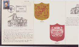 """France, Livret Avec Cachet Commémoratif """" Musée Postal D'Aquitaine Bordeaux-Bristol """" Du 25 Mai 1973 à Bordeaux - Poststempel (Briefe)"""