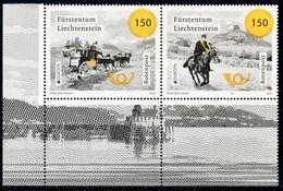 """LIECHTENSTEIN, EUROPA 2020 """"Ancient Postal Routes"""" Set 2v** - 2020"""