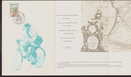 """France, Livret Avec Cachet Commémoratif """" Musée Postal D'Aquitaine Journée Du Timbre """" Du 18 Mars 1972 à Bordeaux - Poststempel (Briefe)"""
