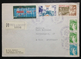 France, Registered Circulated Cover (Fragment) To Germany, « Centre George Pompidou », « Exhibitions », 1979 - Frankreich