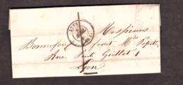 LAC - 8 Avril 1849 - Lyon Pour Lyon - Port Dû 1 Décime - 1849-1876: Klassik