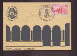 """France, Carte Avec Cachet Commémoratif """" Relais De Poste Henri IV """" Du 27 Mai 1972 à Saint-Macaire - Poststempel (Briefe)"""