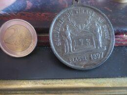 MEDAILLE R F SOUVENIR DU TIRAGE AU SORT CLASSE 1897 - France