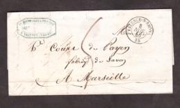 LAC - 8 Avril 1846 - Valence Pour Marseille - Port Dû 5 Décimes - 1801-1848: Vorläufer XIX