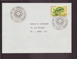 """France, Enveloppe Avec Cachet Commémoratif """" Salon Des Composants électroniques """" Du 11 Avril 1972 à Paris - Poststempel (Briefe)"""