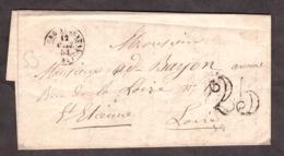 LAC - 12 Avril 1853 - Bourg-Argental Pour St Etienne - Port Dû Taxe 25 - 1849-1876: Klassik