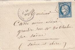 FRANCE - LETTRE CLASSIQUE MONCEAU-LES-MINES  SAONE ET LOIRE POUR CHALON S SAONE  - GC 4611 / 2 - 1849-1876: Klassik