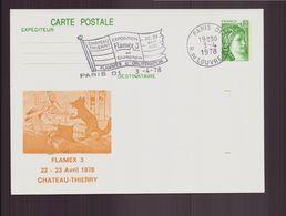 """France, Carte Avec Cachet Commémoratif """" Flammes D'oblitération Flamex 3 """" Du 22 Avril 1978 à Château-Thierry - Poststempel (Briefe)"""