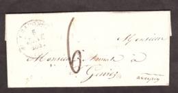 LAC - 5 Janvier 1842 - T12 Craponne (sur Argon, Hte Loire) Pour St Geniez (T14 Au Verso) - Port Dû 6 Décimes - 1801-1848: Vorläufer XIX