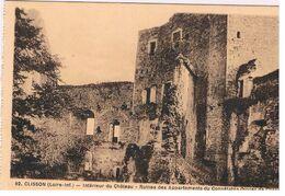 CPA CLISSON Chatau Ruines Des Appartements - Clisson