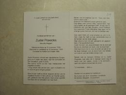 BP 349 - ZUSTER PRAXEDES - ALLEGAERT MARCELLA - HEULE 15.11.1918 - KORTRIJK 06.03.1996 - ZIE 2 FOTO'S - Santini