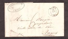 LAC - 22 Juin 1844 - Rueil Pour Angers - Port Dû 6 Décimes - 1801-1848: Vorläufer XIX
